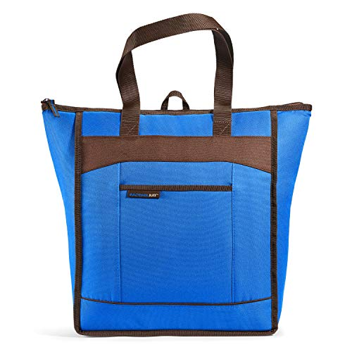 Rachael Ray ChillOut Thermal Tote Bag for Cold or Hot Food, Insulated, Reusable, Blue