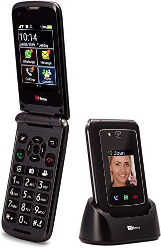 Teléfono móvil TTfone Titan TT950 Whatsapp 3G Pantalla táctil Senior Teclas...