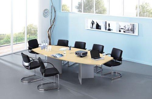 Konferenztisch Ahorn mit Holzgestell