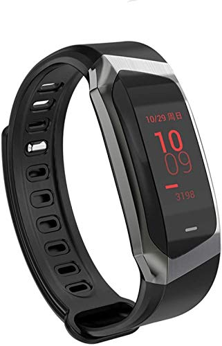 Reloj inteligente de 0 96 pulgadas, pantalla táctil grande, información de llamada, recordatorio Bluetooth, deportes, salud, pulsera de plomo negro