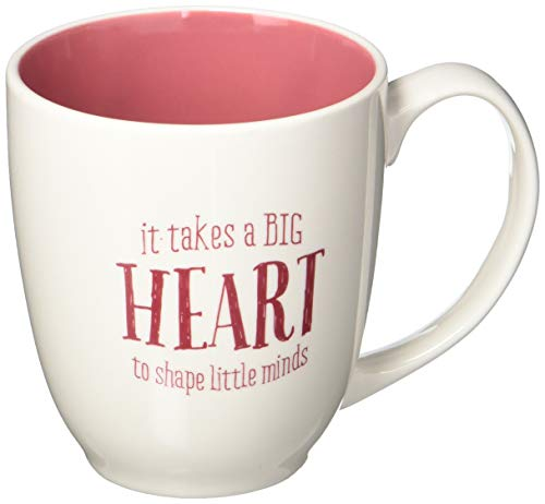 "Christian Art Gifts Inspirational Coffee Mug For Teachers ""Let all that you do be done in LOVE"" –14 oz. Bible Verse Love Coffee Cup, ""Big Heart"" & Corinthian 16:14"