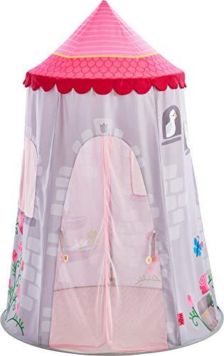 HABA 304209 - Spielzelt Märchenturm, märchenhaftes Kinderzimmer-Zelt aus Stoff mit Dach und Vorhang, empfohlen ab 3 Jahren