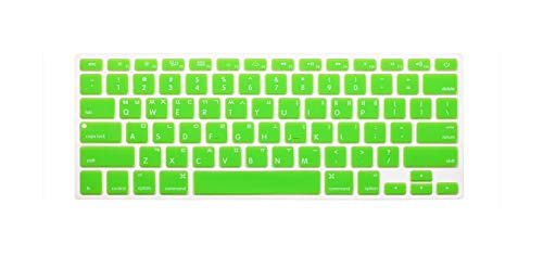 New Korean Keyboard US Version Silicone Protector Stickers Skin For Macbook Air 13 For Mac Pro 13 15 17 Retina Keyboard Cover-green-