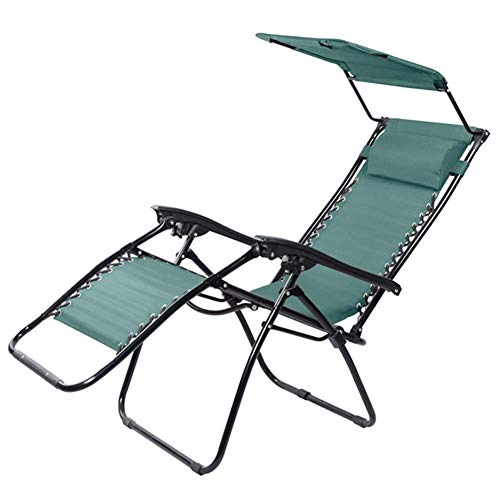YQ WHJB Garden daybed Garden lounge chair Folding zero-gravity folding chair with canopy Portable reclining garden chairs Supports 200 kg