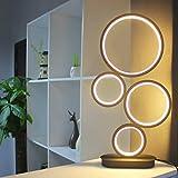 LENIVER LED Table Lamp, Modern Dimmable Bedside Table Light, 18W, 3 Color Modes, for Living Room, Bedroom, Office, Nightstand, Bookshelf (Black)