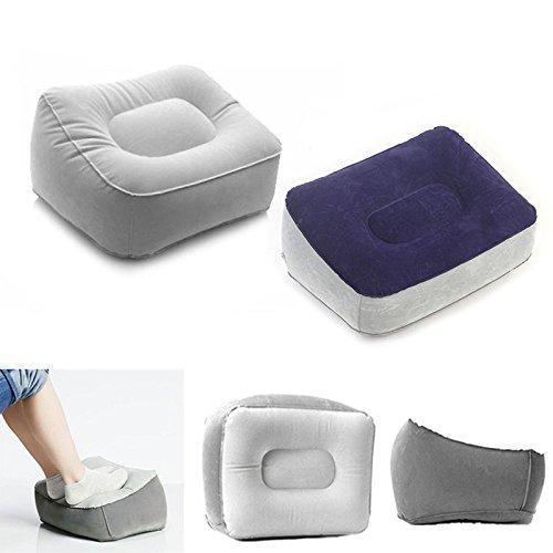 ROKOO Aufblasbares Kissen für Fußkissen, PVC, Air Reise Office Home Leg Up Fußstütze, entspannende Füße