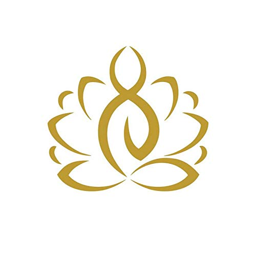 Lotus Yoga Silhouette Vinyl Decal Sticker | Cars Trucks Vans SUVs Walls Cups Laptops | 5.5 Inch | Gold | KCD2717