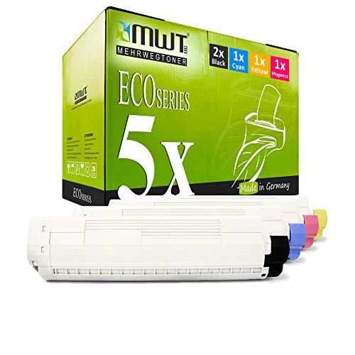 5X MWT Druckerpatronen für Oki C 831 841 CDTN DM DN N ersetzt 44844505-44844508 Set