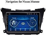 Navegacin GPS para Android YDD Nissan Murano 2015-2017 FM Am Soporte USB Wi-Fi/Bluetooth BT inmovilizacin de Radio por Internet con Pantalla t;ctil Reproductor Multimedia,WiFi, 1 + 16G