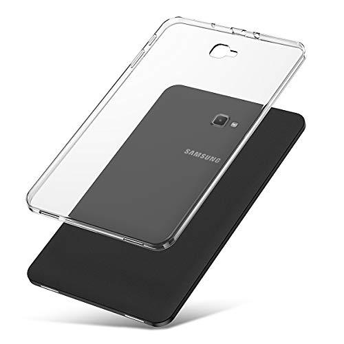 J&D Compatible para Galaxy Tab A 10.1 2016 Funda, [Cojín Delgado] [Parachoques Ligero] [Transparente] Resistente Tablet Clear Funda TPU Caucho Protectora para Galaxy Tab A 10.1 SM-T580 Case Clear
