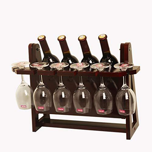 estantería de vino Botelleros de vino Encimeras de madera Portavasos de vino Sala de estar creativa Gabinete decorativo Exhibición de vino tinto Almacenamiento Regalo titular de vino ( Color : D )