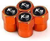 4 Piezas Neumáticos Tapas Válvulas para KIA K3, Antipolvo Tapones de Coche Decoración Accesorios