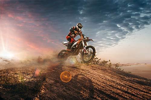 Motocross Motorrad Dirtbike XXL Wandbild Kunstdruck Foto -Poster- P1826 Größe 90 cm x 60 cm