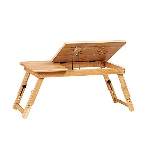 Folding table LVZAIXI Plateau de lit pour Petit déjeuner, Plateau inclinable, Disponible en différentes Tailles (Taille : (55 * 34 * 27cm) Without Fan)