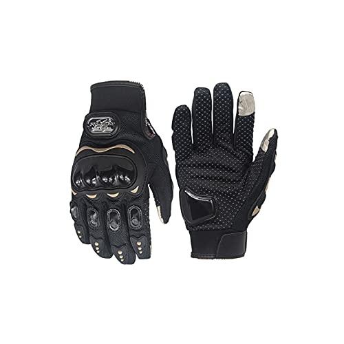 Motorcycle Gloves for Men and Women, Full Finger Touchscreen Motorbike Gloves and Summer ice Silk...