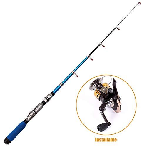 Jasinto Fishing Rod Angelrute, 1/1.2/1.5/1.7/1.9/2.1/2.3M Mini Carbon Superharte Wurfstange Angelruten, Teleskoprute Kohlefaser Angelrute, Spinnrute aus Kohlefaser Spinnrute