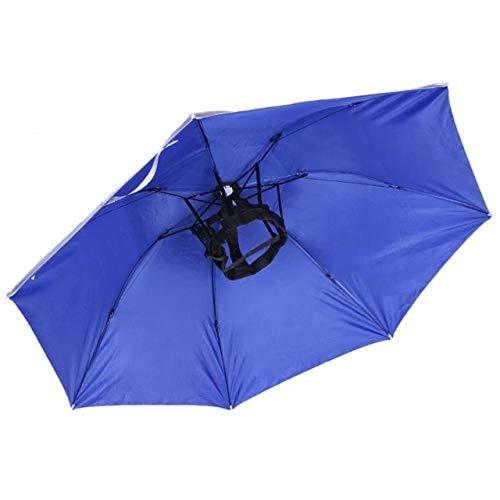 NJSDDB paraplu 95CM grote hoofd paraplu anti-UV anti-regen outdoor reizen vissen paraplu hoed draagbare drievoudige paraplu mannen vrouwen Australië 02