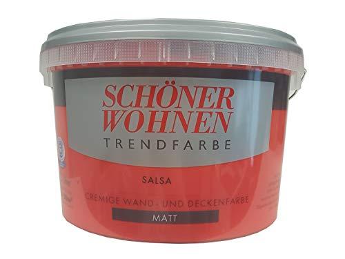 2,5 L Schöner Wohnen Trendfarbe, cremige Wandfarbe, Salsa Matt