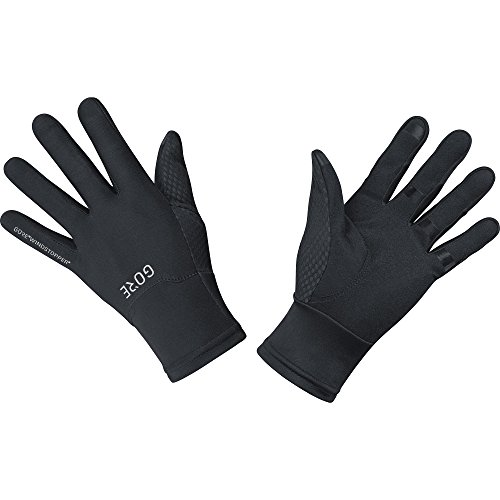 GORE Wear, Guantes cortavientos, M GORE WINDSTOPPER Gloves, Talla: 11, Color: Negro, 100115