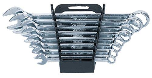 KS Tools 517.0048 CLASSIC Ringmaulschlüssel-Satz, abgewinkelt, 8-tlg. 8-19mm