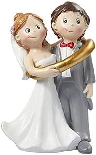 Pareja en anillo boda Figura decorativa Novios 8cm