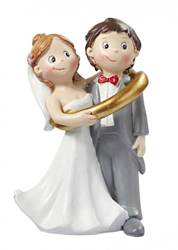 Hochzeitspaar im Ring Hochzeit Figur Deko Brautpaar 8 cm
