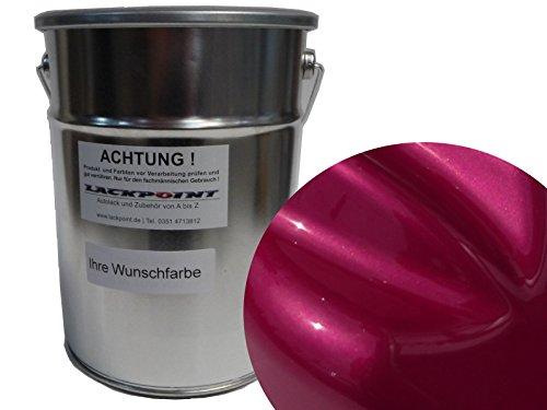Lackpoint 1 Liter Spritzfertig Wasserbasislack Candy Pink Metallic Autolack