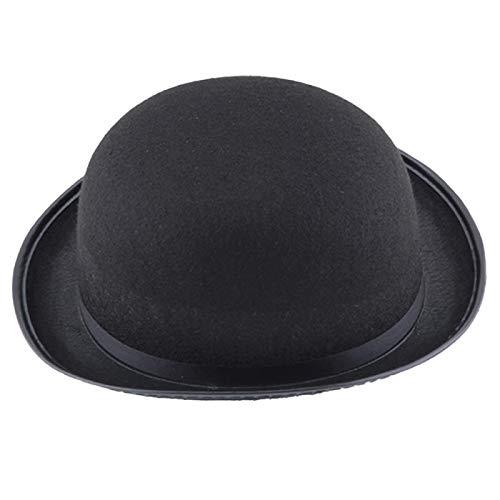 IUSGAND Sombrero mgico de Moda Sombrero de Jazz Sombrero Negro Vintage Gorra de Mago de Halloween Talla nica Negro