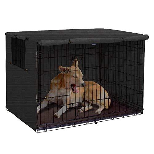 chengsan Funda para Perro, Cubierta para Perro, Cubierta de poliéster Resistente, Ajuste Universal para Caja de Alambre para Perro