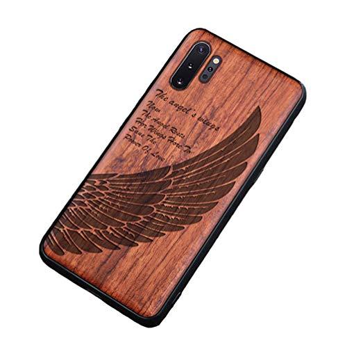 Homi2019 - Funda de madera para Huawei Nova 5T, carcasa de madera y TPU híbrido para teléfono móvil, funda protectora (palisandro)