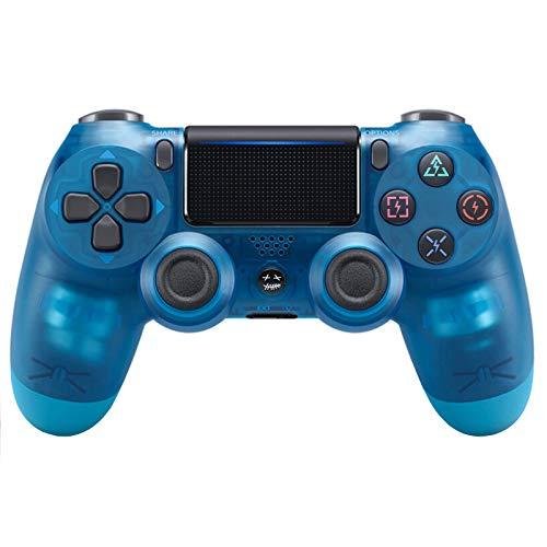 Controlador Bluetooth Inalámbrico para Playstation 4, Mango De PS4 De Doble Vibración De Seis Ejes con Pantalla Táctil,Transparent Blue