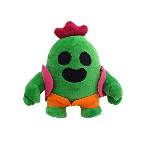 ZYBB Brawl Stars Plush Toys, Cactus Plush Doll 20Cm Cute Anime Game Spike Model Plush Doll Peluche De Peluche Soft Cactus Plush Toys para Niños Niños Cactus 1PCS /A