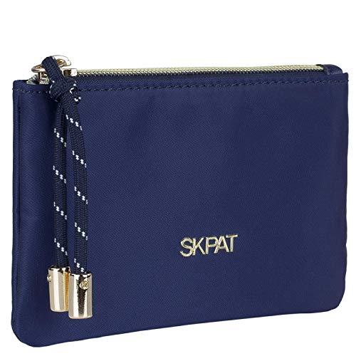 SKPAT - Monedero de Mujer Tipo Classic Elegante Minimal Tarjetero pequeño cursor Personalizado Tres Colores Funcional Uso Diario 307607, Color Marino