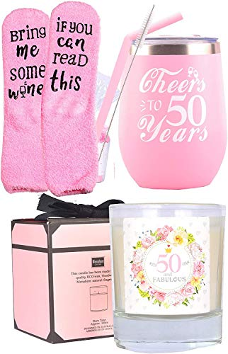 50th Birthday Gifts for Women, 50th Birthday, 50th Birthday Tumbler, 50th Birthday Decorations for Women, Gifts for 50 Year Old Woman, Turning 50 Year Old Birthday Gifts Ideas for Women