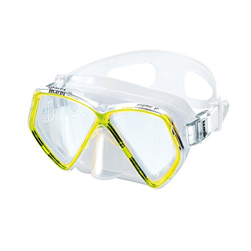 Mares Kinder Mask ZEPHIR JR. Taucherbrille, Gelb, One Size