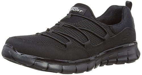 Skechers Sport Women's Loving Life Memory Foam Fashion Sneaker,Black,8 M US