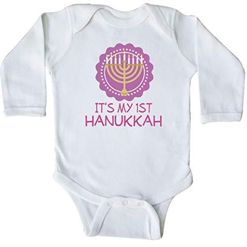 inktastic My 1st Hanukkah Festival Long Sleeve Creeper 6 Months White 333c3