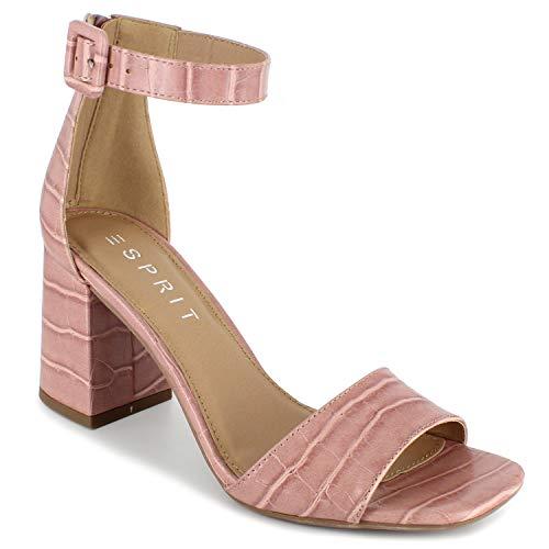 ESPRIT Damen Baylee Sandalen mit Absatz, rosa-Dusty pink, 37.5 EU