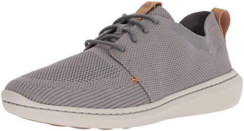 Clarks Men's Step Urban Mix Shoe, grey textile knit, 090 M US