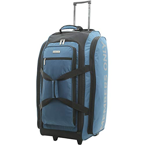 """Members Only Rolling Travel Duffel, Teal, 30"""""""