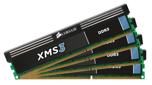 Corsair XMS3 8GB (4x2GB) DDR3 1333 MHz (PC3 10666) Desktop Arbeitsspeicher (CMX8GX3M4A1333C9)