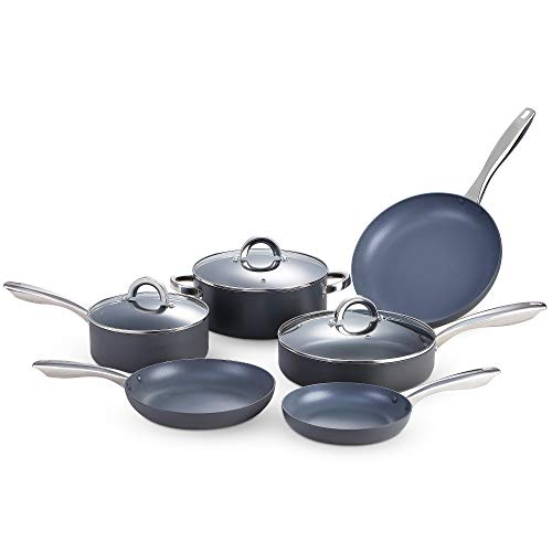 KUTIME 13pcs Hard Anodized Cookware Set Nonstick Pots and Pans Set Fry pans for Cooking, Stock...