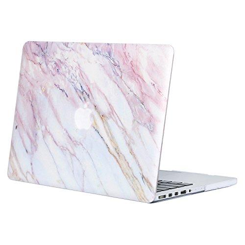 MOSISO Funda Dura Compatible con MacBook Pro 13 Retina A1502 / A1425 (Versión 2015/2014/2013/fin 2012), Carcasa Rígida Protector de Patrón de Plástico Cubierta, Mármol Rosado