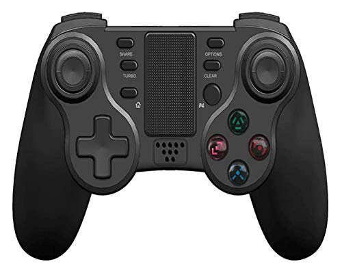 RVTYR Controlador PS4, Gamepad del Controlador inalámbrico for PS4 PC Smartphone Bluetooth Gamepad Controlador de Joystick for PC / PS4 / Smart TV/Smartphone Controladores