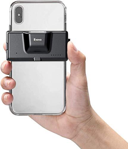 Eyoyo 2D Escáner de Código de Barras Bluetooth, 1D QR Lector de Código de Barras Inalámbrico con Clip Trasero para Móvil, Android, iOS, Biblioteca, Almacén y Supermercado(EY-022)