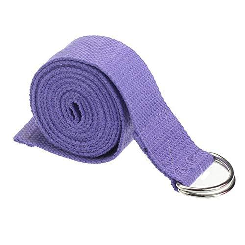 SJYM 1pcs Pilates Yoga Belt Slackline Stretch Band Mat Correa de Yoga Herramientas de Entrenamiento Flex Bar Pull Up Assist Accesorios de Yoga
