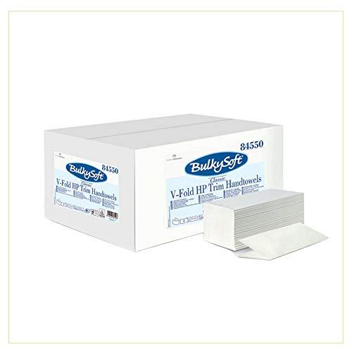 Palucart asciugamani monouso interfogliati a V pura cellulosa doppio velo 21cm x 21cm (3150)