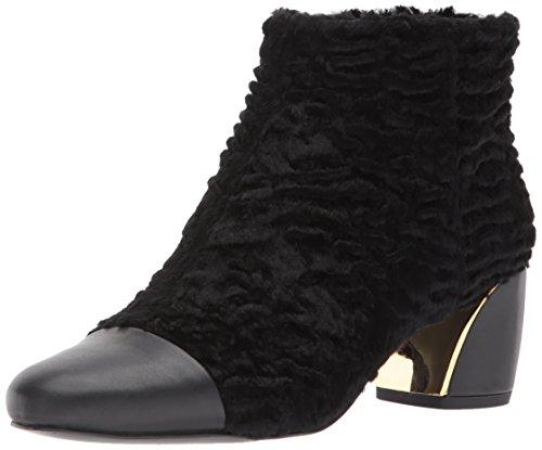 NINE WEST Women's Joannie Ankle Boot, Black Fabric, 8.5