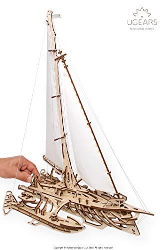 Trimaran Merinhobus SCHIFF / SEGELBOOT - 3D Holzbausatz von UGEARS