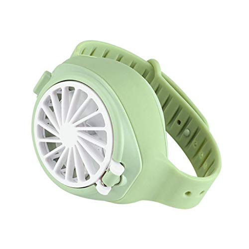 Guangruiorrty - Mini ventilador de reloj mecánico portátil, portátil, ultra silencioso, tercer engranaje, artefacto de salida de verano